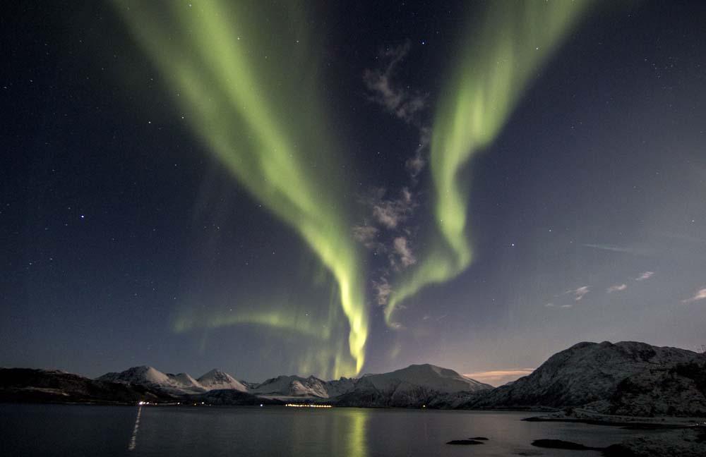 Magisk nordlys i Tromsø