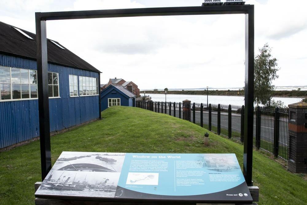 Window on the world er en del af udstillingen, hvor man får historien om transport på kanalerne gennem 200 år.