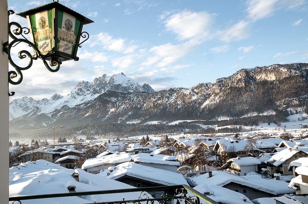 Spis med udsigt i St. Johann i Tyrol