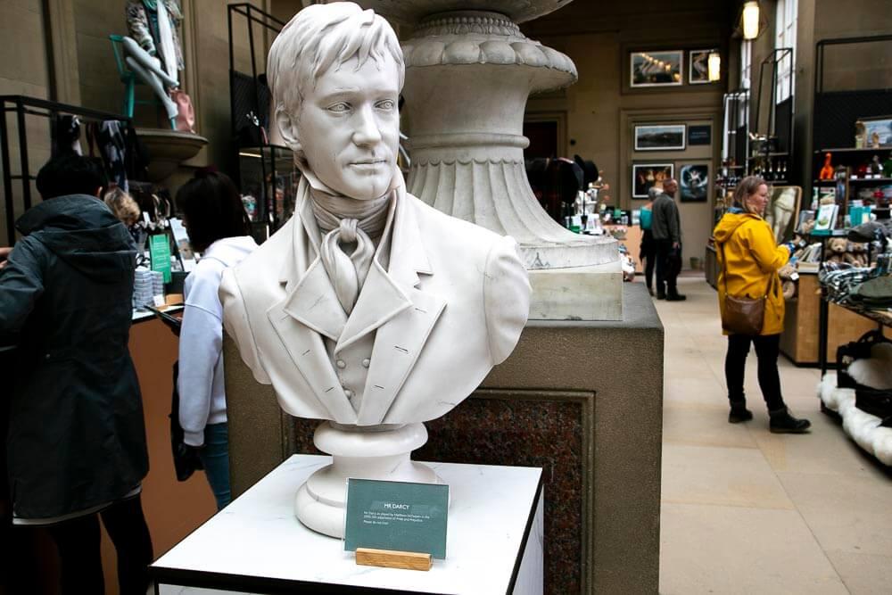 En buste af Mr. Darcy på Chatsworth House